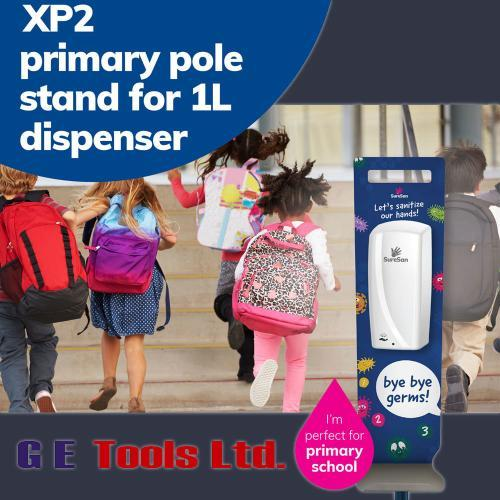 Primary school sanitiser dispenser board