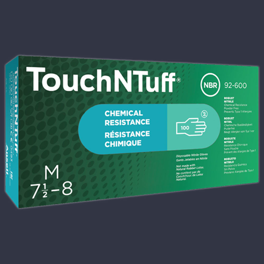 Ansell Edmont TouchNTuff 92-600 Disposable Nitrile Gloves ...