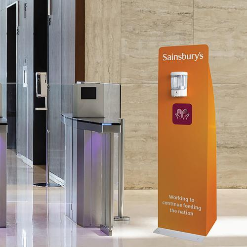 Hand Sanitiser Floor Standing Dispenser